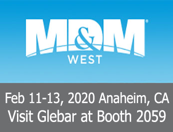 Visit Glebar at MDM West 2020!