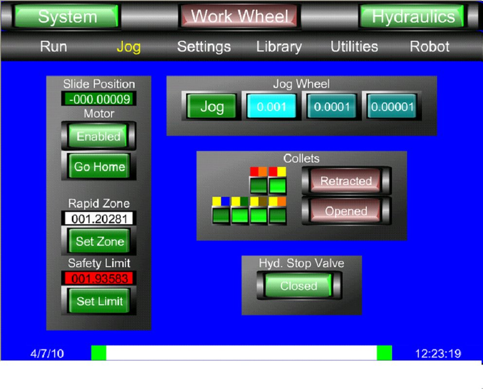 HMI Screenshot